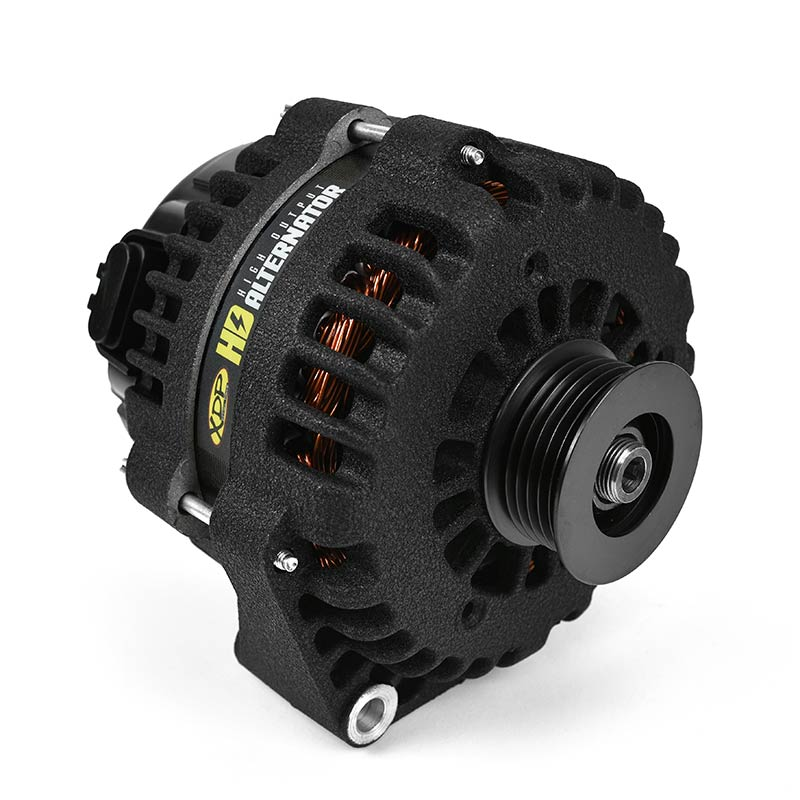 XDP Wrinkle Black HD High Output Alternator XD355
