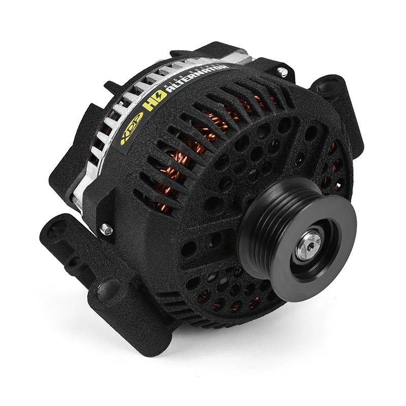 XDP Wrinkle Black HD High Output Alternator XD357