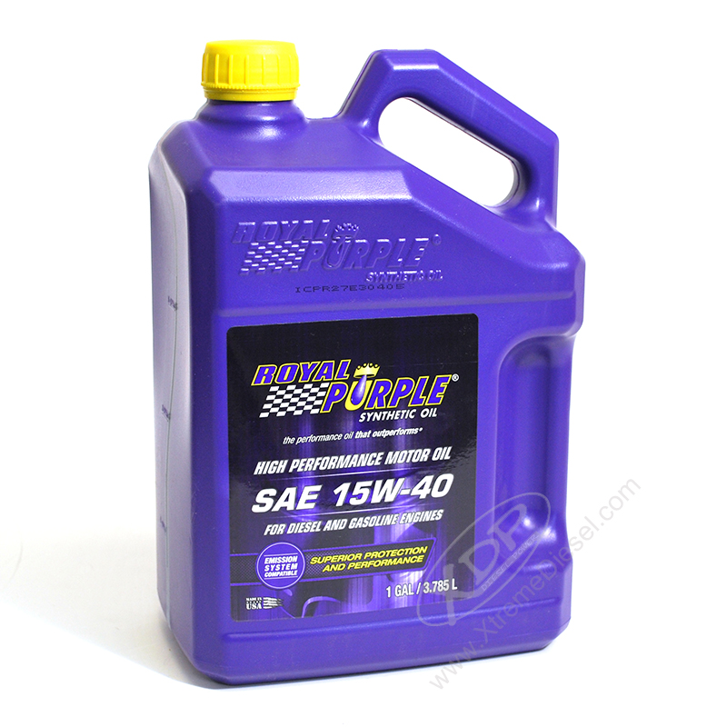 Royal purple 15w 40 synthetic motor oil 1 gallon 04154 for Synthetic motor oil for diesel engines