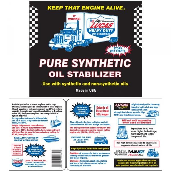 Lucas Oil 10130 Synthetic Heavy Duty Oil Stabilizer