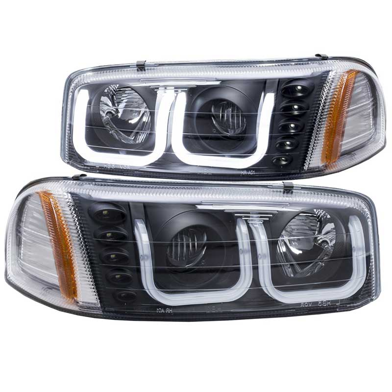 Anzo 111303 black u bar style projector headlights aloadofball Image collections