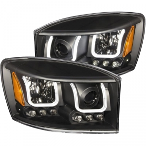 Anzo 111314 Black U-Bar Style Projector Headlights