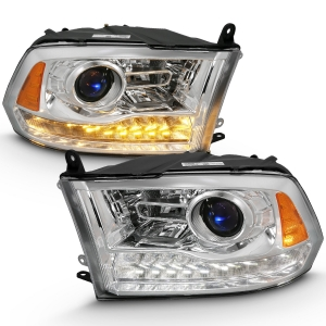 Anzo 111440 Chrome Plank Style Switchback Projector Headlights