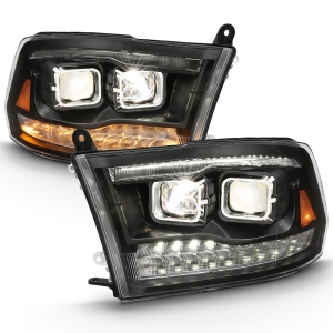 Anzo 111441 Black Switchback Projector Headlights
