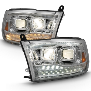 Anzo 111442 Chrome Switchback Projector Headlights