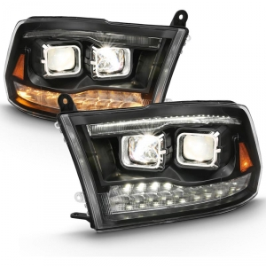 Anzo 111464 Black Switchback Dual LED Projector Headlights
