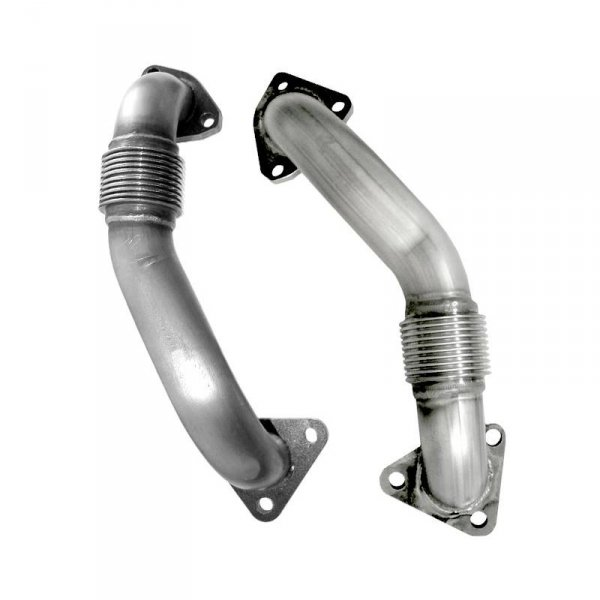 Heavy Duty Driver Side Exhaust Up Pipe 2001-2016 GMC Chevy Duramax Diesel 6.6L