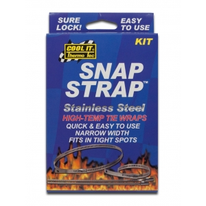 6 Pack Thermo-Tec 13160 18 Snap Strap Kit