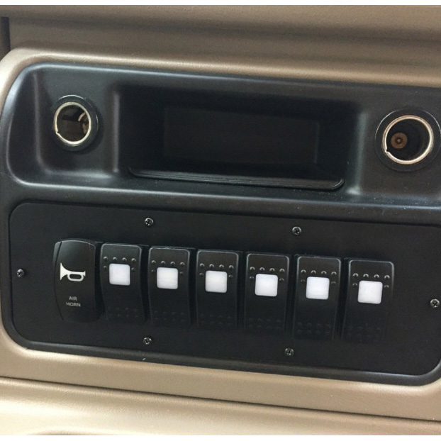 Longhorn Fab 200974 Console Switch Panel With 7 Rocker Switch Cutouts