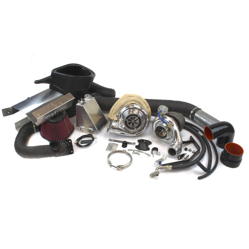 Pusher Cummins Compound Turbo: Industrial Injection 22C408 Towing Compound Turbo Kit