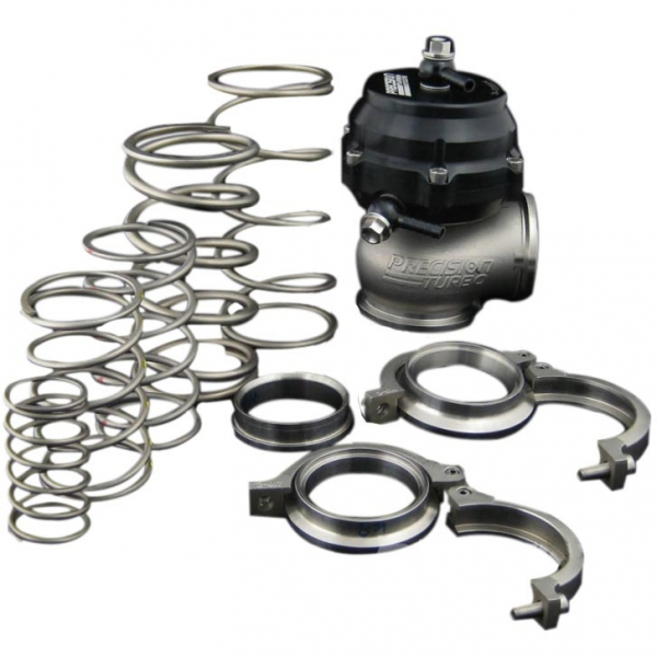 Precision Turbo PW46 46MM External Wastegate 46mm w//Springs IN//OUT SS Flanges