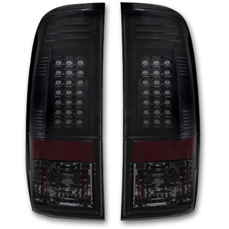 Recon 264176bk Smoked Led Tail Lights