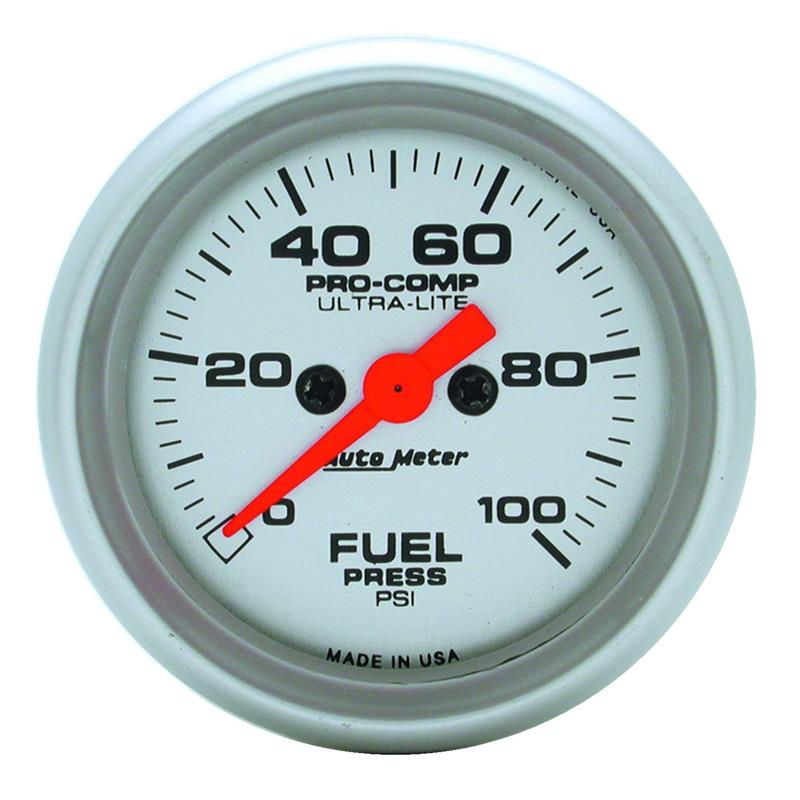 Autometer 4368 Ultra Lite Electric Water Pressure Gauge: Auto Meter 4363 Ultra-Lite Fuel Pressure Gauge