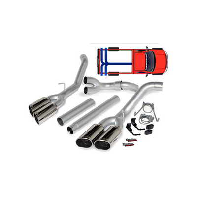 Banks Power Dual Monster Exhaust System w/ Quad Tips 49767