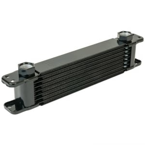 Flex-A-Lite 400130 Stacked Plate Transmission Cooler 30-Row 3//8 Barbed Ports 11