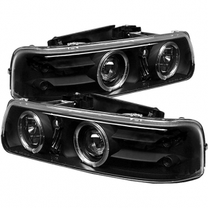 Spyder 5009593 Black Projector Headlights W Led Halo