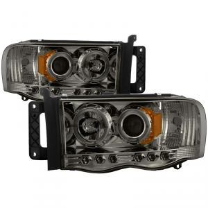 Spyder 5009999 Smoked Projector Headlights W Led Halo
