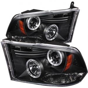 Spyder 5010032 Black Projector HeadLights W/LED Halo