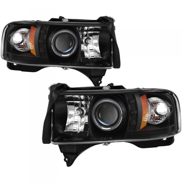 Spyder 5010087 Black Projector HeadLights W/ LED Halo