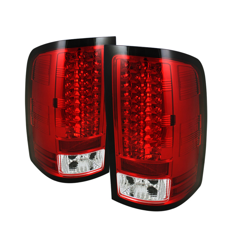 Spyder 5014955 Red Clear Led Tail Lights