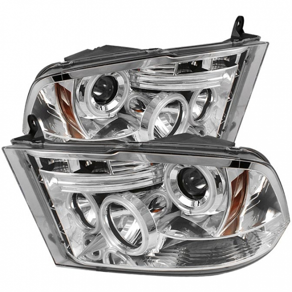 Spyder 5030337 Chrome Projector HeadLights W/ CCFL Halo