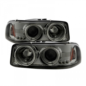 Spyder 5064141 Smoked Projector Headlights W Ccfl Halo
