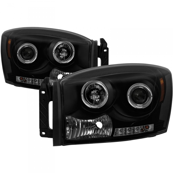 Spyder 5078391 Black/Smoke HeadLights With LED Halo