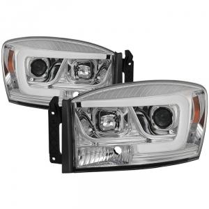 Spyder 5085290 Chrome Version 2 Projector Headlights W/ Light Bar DRL
