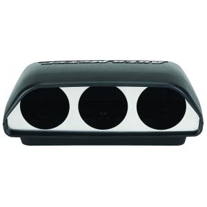 Auto Meter 17204 Black 2-1//16-Inch Dual Pillar for 1998-2002 Dodge Ram with speaker except 02 1500