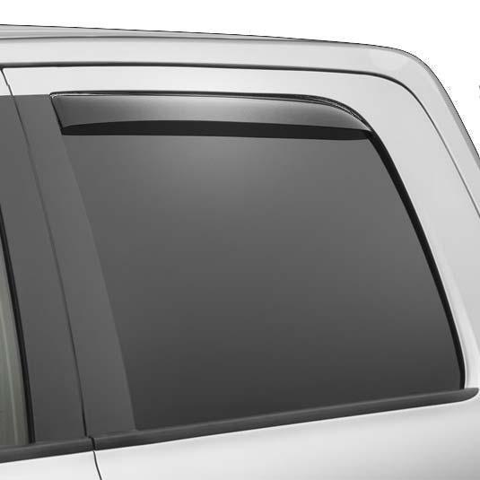 Weathertech Side Window Deflectors >> Weathertech 87027 Dark Smoke Rear Side Window Deflectors