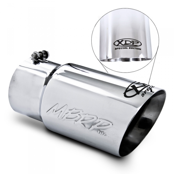 """GMC CHEVY DURAMAX 4/"""" INLET 6/"""" OUTLET 12/"""" L STAINLESS STEEL DIESEL EXHAUST TIP"""