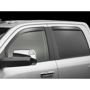 WeatherTech Custom Fit Rear Side Window Deflectors for Nissan Titan Crew Cab Dark Smoke