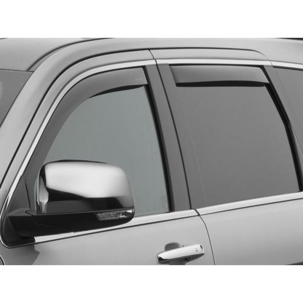 WeatherTech 82168 Side Window Deflector, Front//Rear, Dark Smoke
