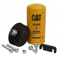 xdp duramax cat adapter with 1r-0750 filter, bleeder screw & spacer